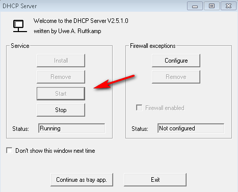 setup dhcp server on windows 7
